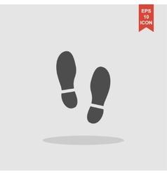 Imprint soles shoes icon shoes print vector image