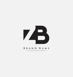 Initial letter zb logo - minimal business logo vector
