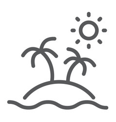 island line icon travel and tourism palm trees vector image