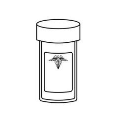 isolated laboratory test bottle vector image
