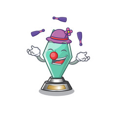 Juggling acrylic trophy stored in cartoon drawer vector