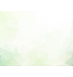 Light soft green triangular geometric background vector