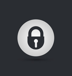Lock keyhole rounded icon style is flat iconic vector
