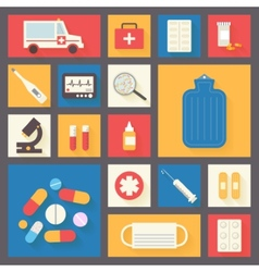 Medical icons set Ambulance and pharmacy vector