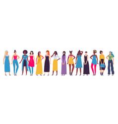 multiethnic group women diverse vector image