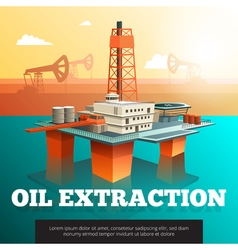 Oil Drilling Offshore Platform isometric Poster vector