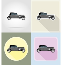 Old retro transport flat icons 04 vector