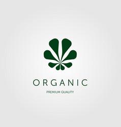 Organic leaf logo design cannabis logo negative vector