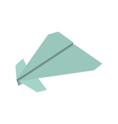 Paper plane origami fly vector
