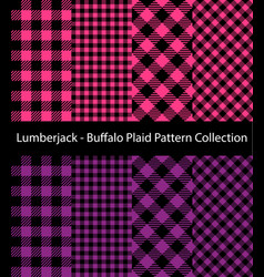 pink and purple lumberjack collection vector image
