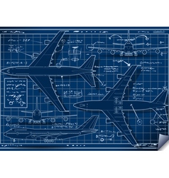 Project of a Plane in Five Positions vector image