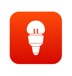 Reflector bulb icon digital red vector