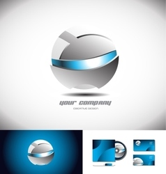 Robot robotic sphere 3d logo icon design vector