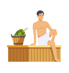 sauna and spa procedures by women isolated vector image
