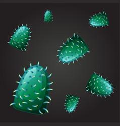 Seamless design for green virus vector