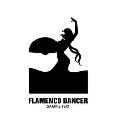 Spanish flamenco dancer vector