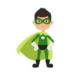 Super hero boy cartoon character vector