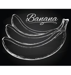 Tasty bananas vector