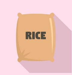 Textile rice sack icon flat style vector