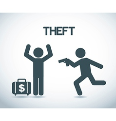 Theft design over gray background vector