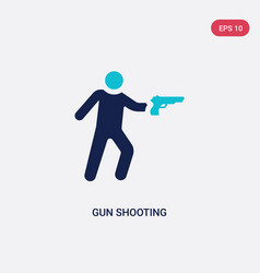 Two color gun shooting icon from army and war vector