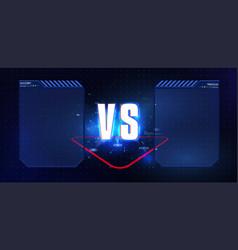 Vs versus blue and red futuristic design vector