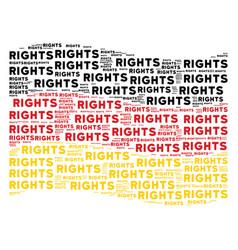 Waving german flag mosaic of rights text items vector