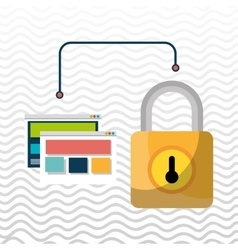 web page padlock secure vector image