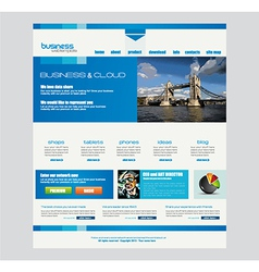 Website template for corporate business and cloud vector
