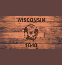 Wisconsin flag brand vector