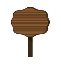 Wooden sign frame vector