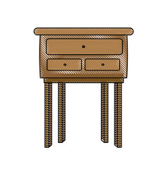 Wooden table cabinet furniture decoration image vector
