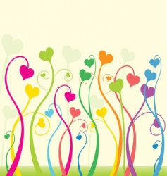 floral love vector image vector image