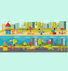 kids playground horizontal banners vector image vector image