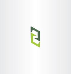 letter z green sign logo icon element vector image