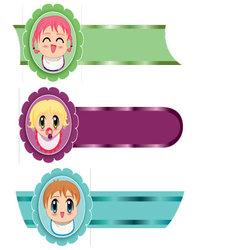 manga banners vector image vector image