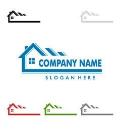 Real estate logo design home house logo vector image vector image
