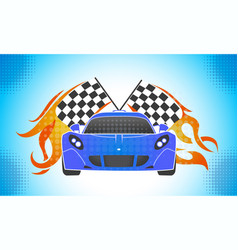 sports cars retro style vector image vector image