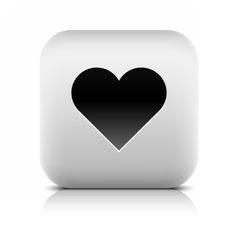 Web icon with heart sign vector image vector image
