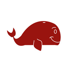 whale cartoon isolated vector image vector image