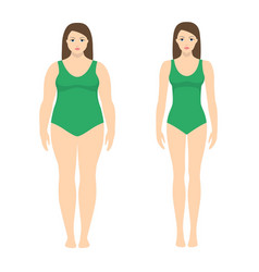 a woman before and after vector image
