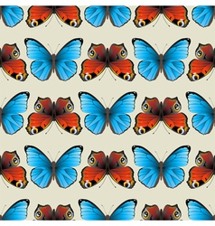 butterfly seamless2 vector image vector image