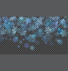 christmas background of translucent falling vector image