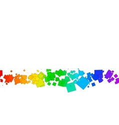 colored squares on a white background vector image