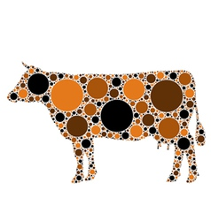 dotted cow vector image vector image