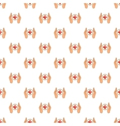 Medical care pattern cartoon style vector image