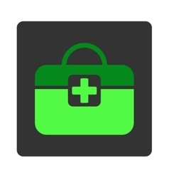 Medical Kit Flat Button vector image vector image