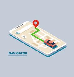 modern isometric navigation vector image