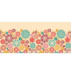 Abstract decorative circles horizontal seamless vector image vector image