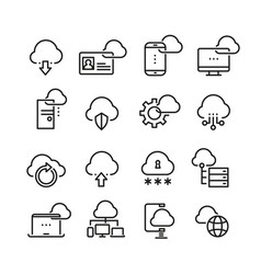computer cloud technology data security access vector image
